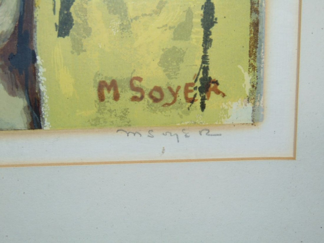 Moses Soyer, Pencil Signed Serigraph - 2
