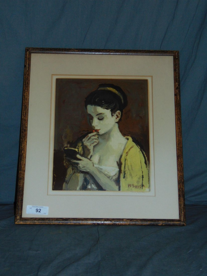 Moses Soyer, Pencil Signed Serigraph - 3