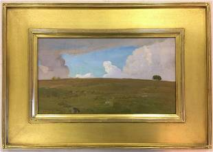 Rockwell Kent Signed & Dated Oil on Board, 1907