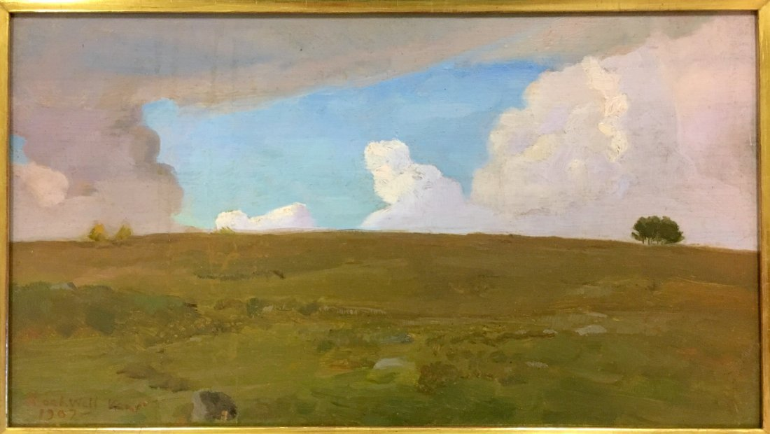 Rockwell Kent Signed & Dated Oil on Board, 1907 - 2
