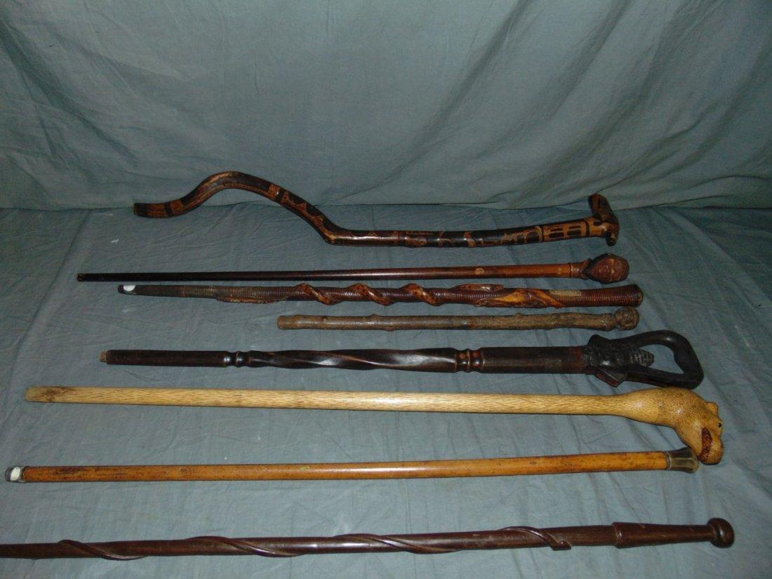 Cane, Walking Stick and Baton Lot.