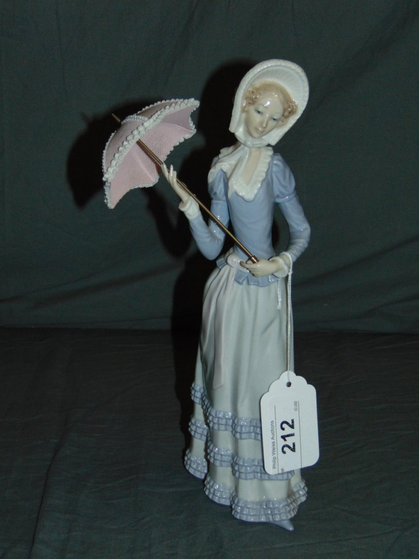 Lladro Figurine. Woman with Parisol.