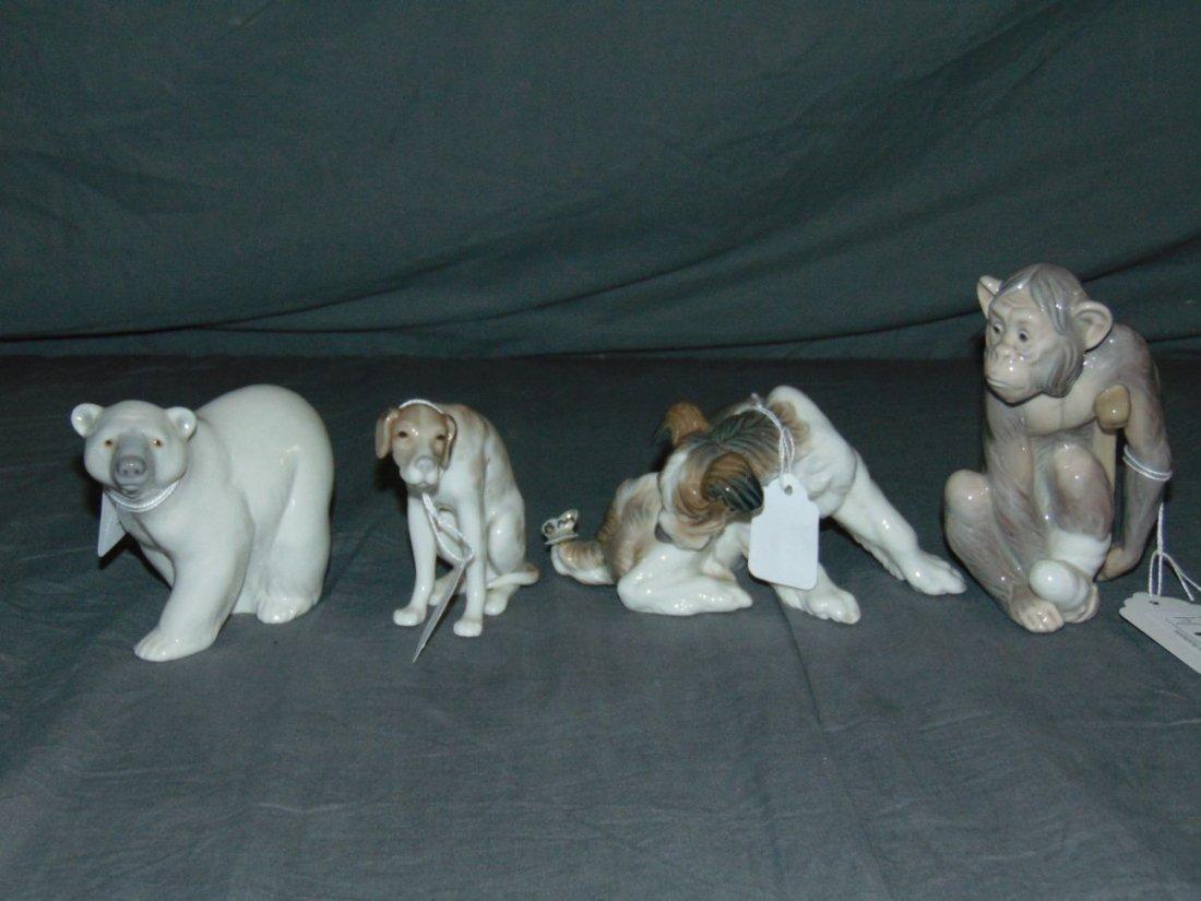 Llaadro Figurines. Lot of 4..