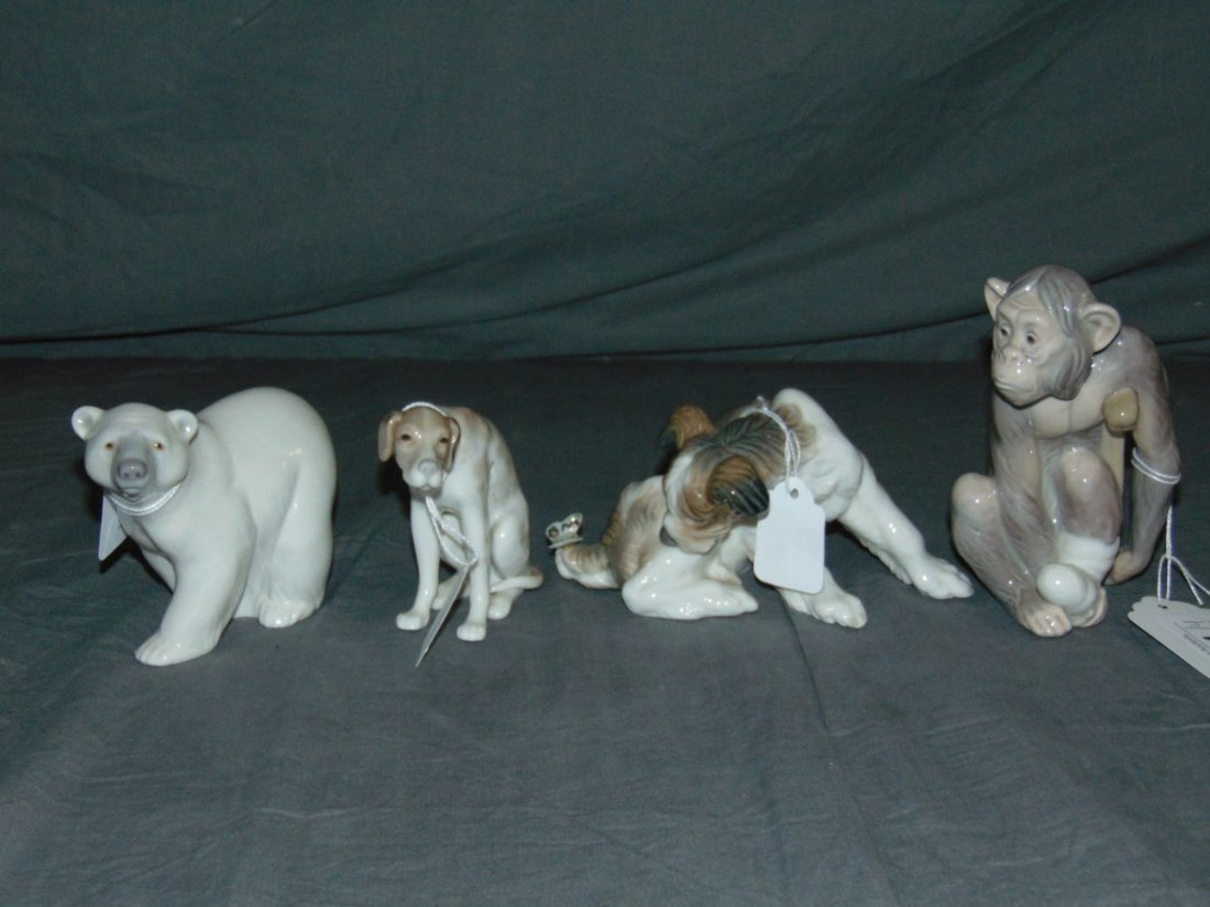 Llaadro Figurines. Lot of 4..