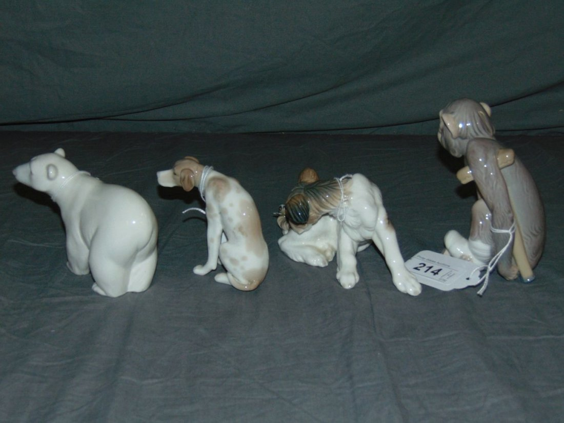 Llaadro Figurines. Lot of 4.. - 3