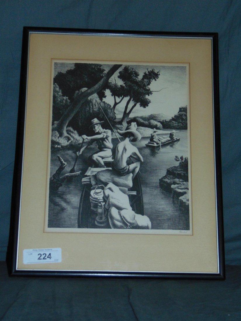 Thomas Hart Benton, Signed Lithograph - 3