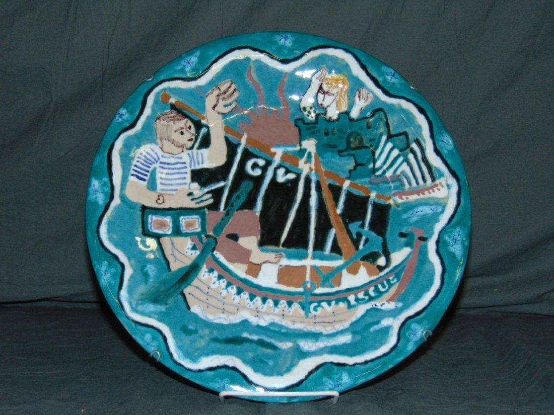 Keraluc Quimper Pottery Plate