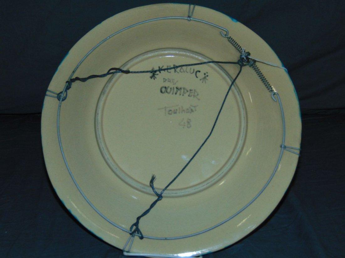 Keraluc Quimper Pottery Plate - 4