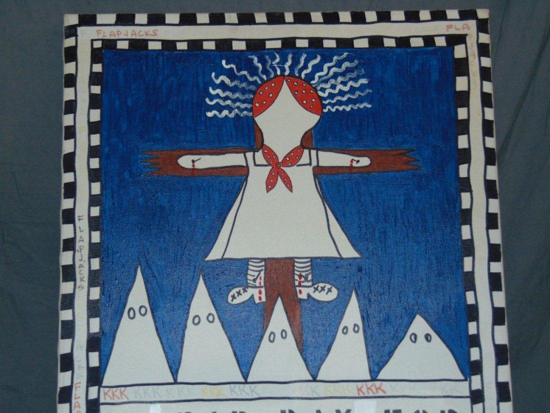 Rodney Harris, Mixed Media on Canva, Folk Art - 2