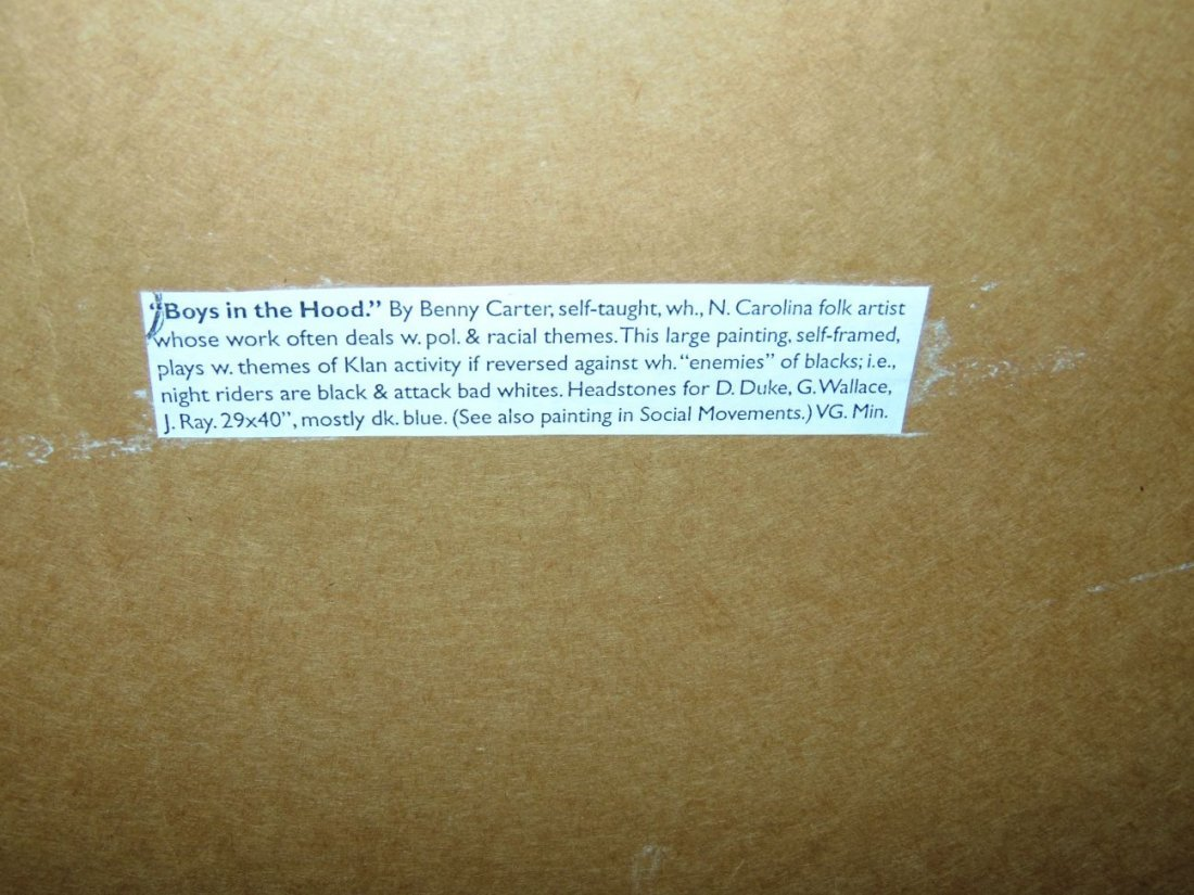 "Benny Carter, Folk Art Painting ""Boys in The Hood"" - 6"