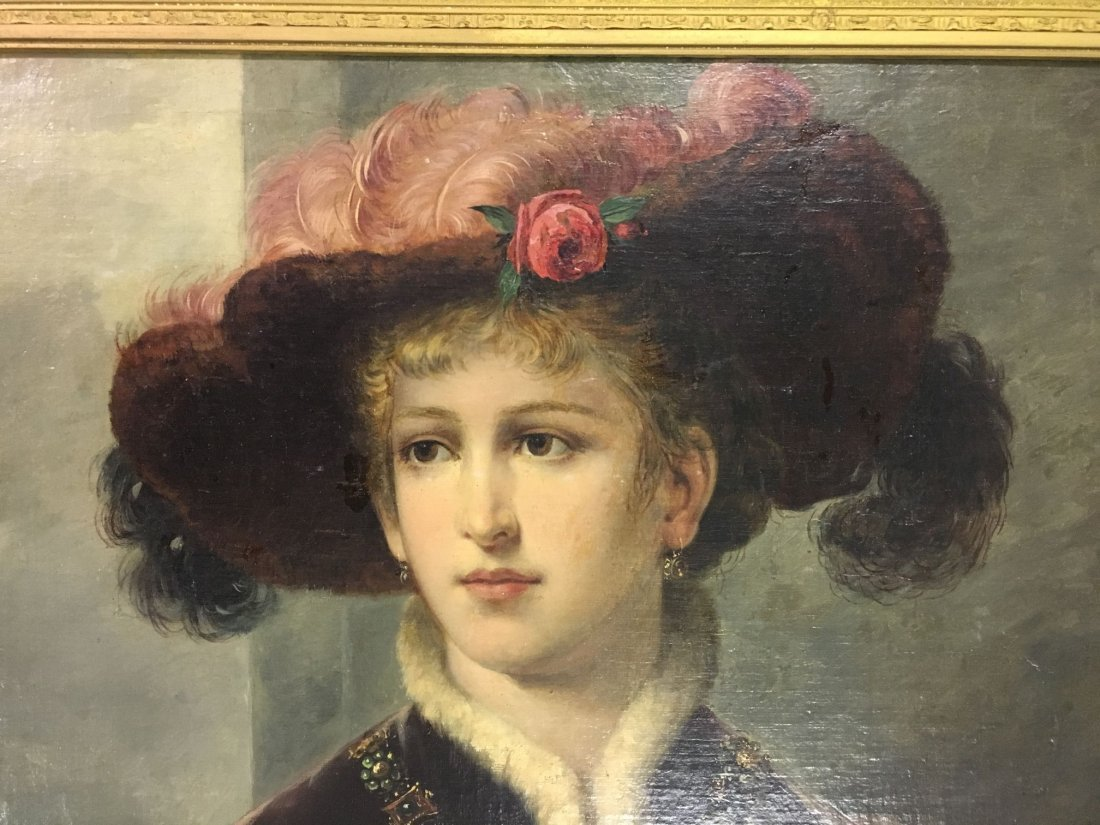 Oil on Canvas. Late 19th Century Portrait. - 2