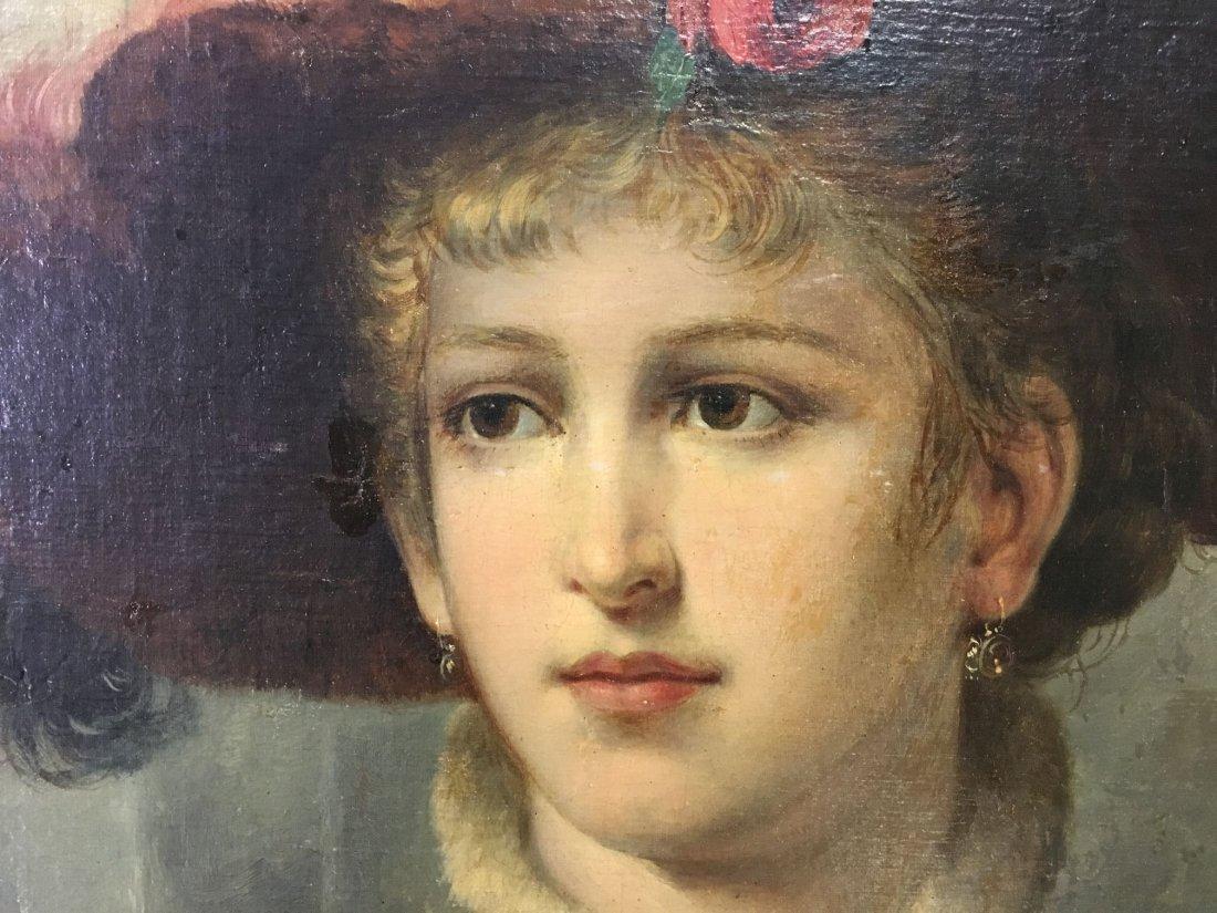 Oil on Canvas. Late 19th Century Portrait. - 5