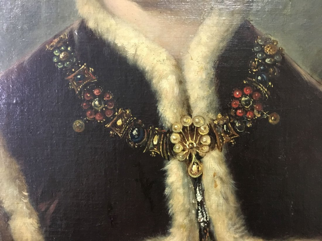 Oil on Canvas. Late 19th Century Portrait. - 6