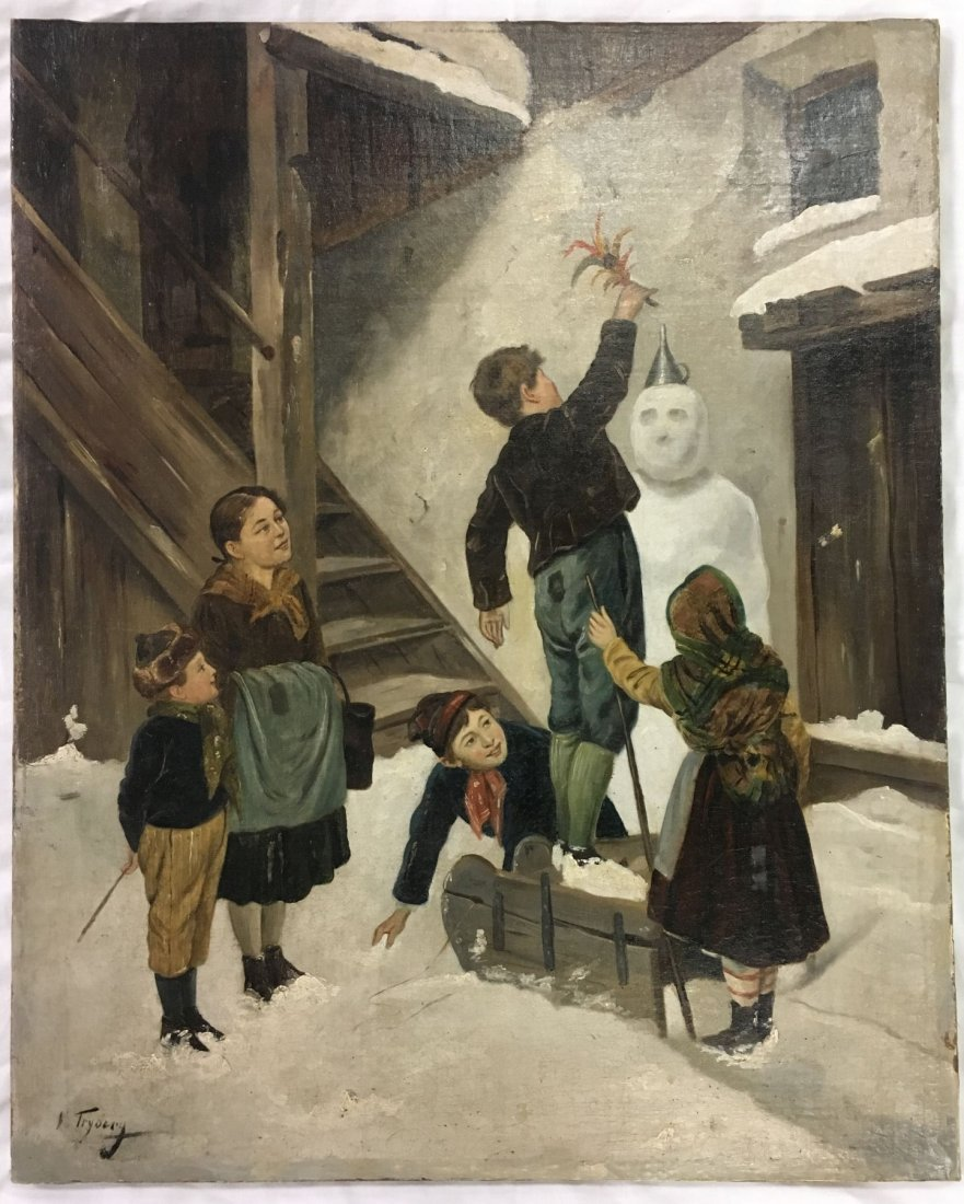 K. Tryberg. Oil on Canvas.