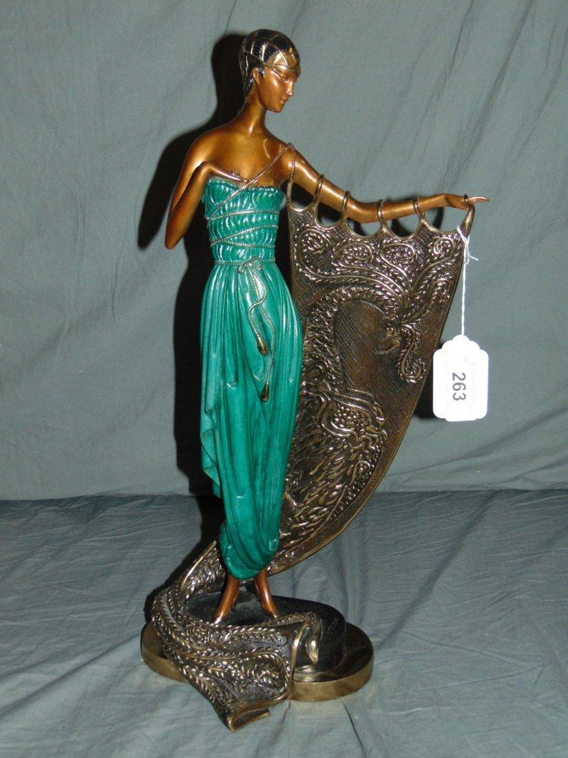 Erte Emerald Night Sculpture