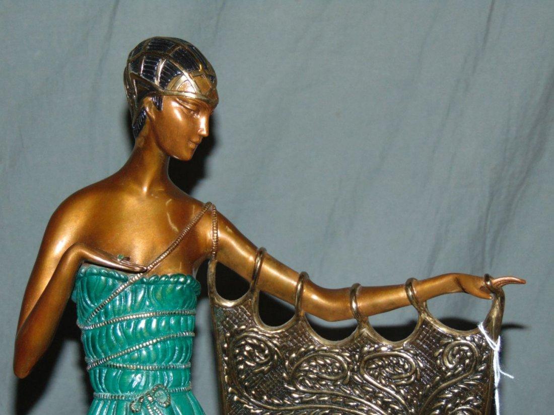 Erte Emerald Night Sculpture - 2