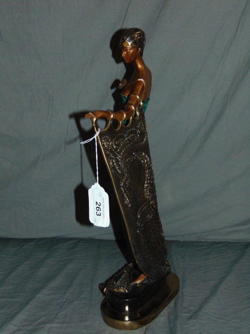 Erte Emerald Night Sculpture - 4