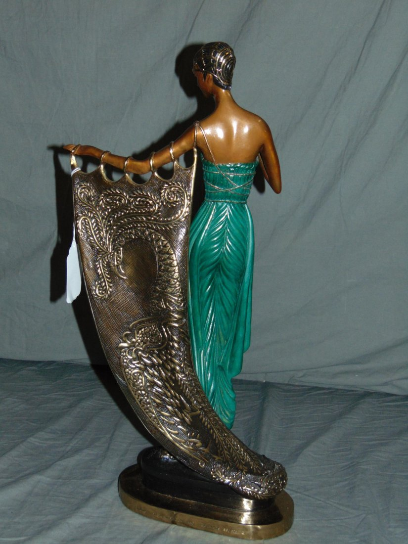 Erte Emerald Night Sculpture - 5