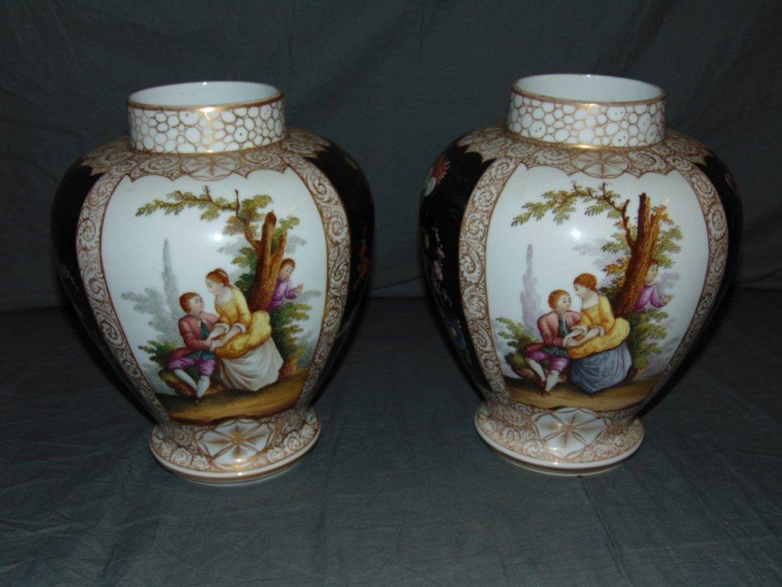 Pair of Decorative Porcelain Vases