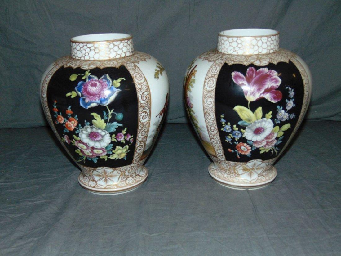 Pair of Decorative Porcelain Vases - 2