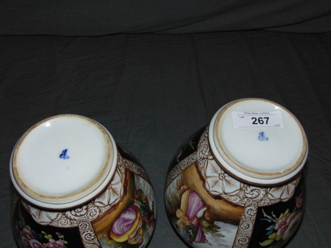 Pair of Decorative Porcelain Vases - 6