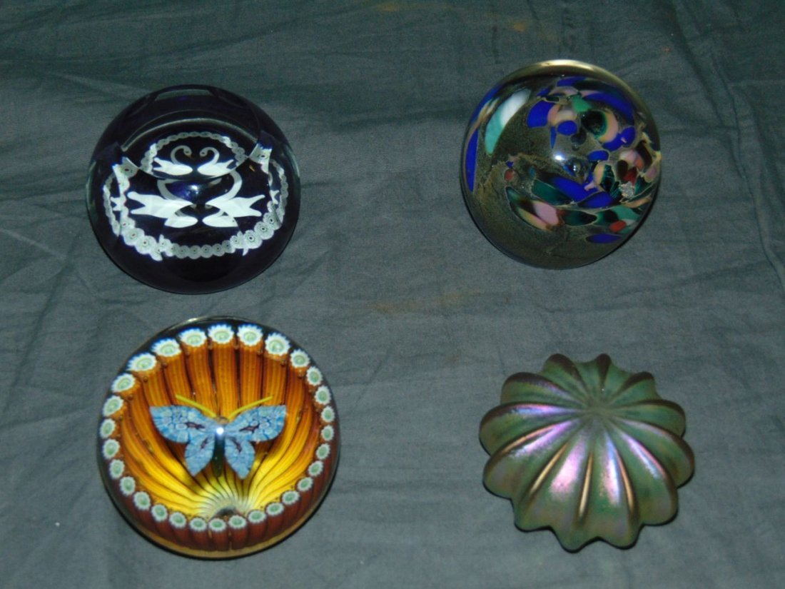 Lot of Four Paperweights.