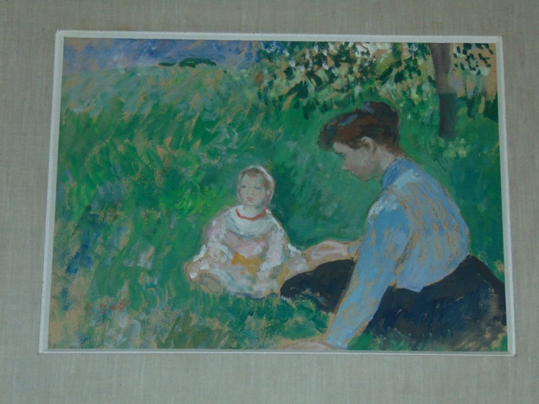 Francois Gall  (1912 - 1987) Oil.