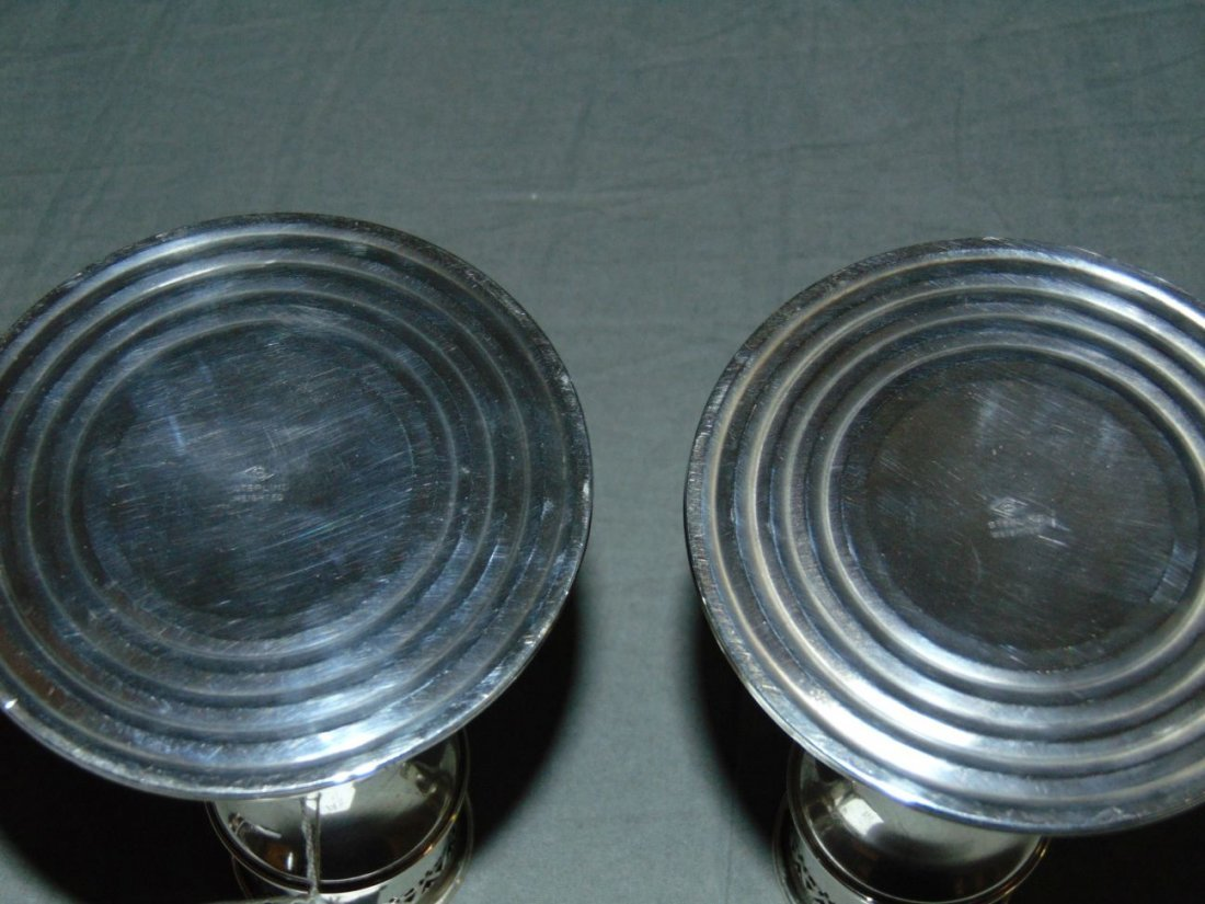 Pair of Sterling Silver Weighted Candlesticks - 6