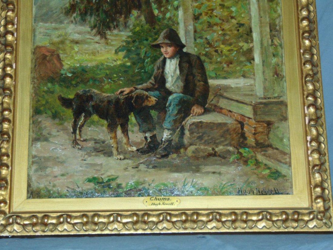 Hugh Newell Oil on Canvas, Boy with Dog - 3