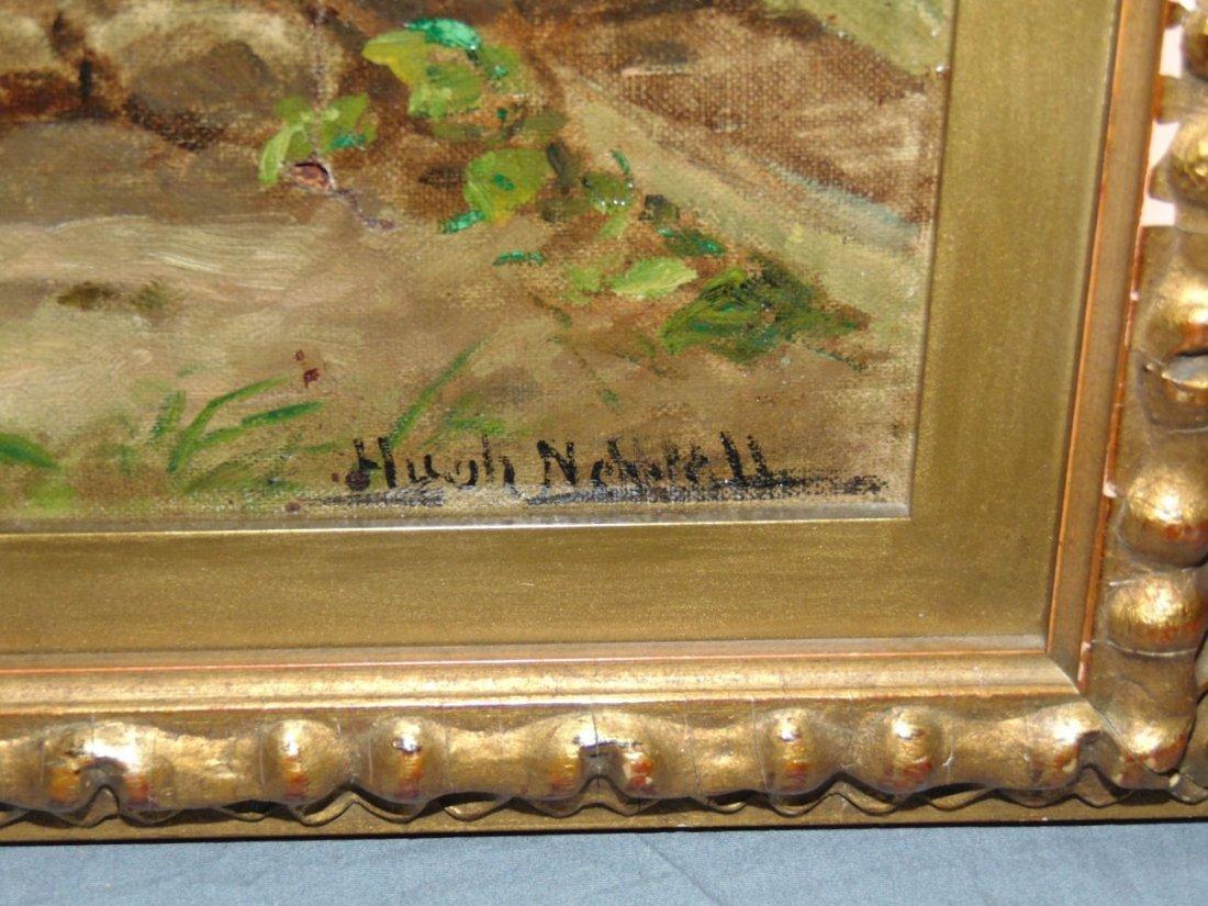 Hugh Newell Oil on Canvas, Boy with Dog - 4