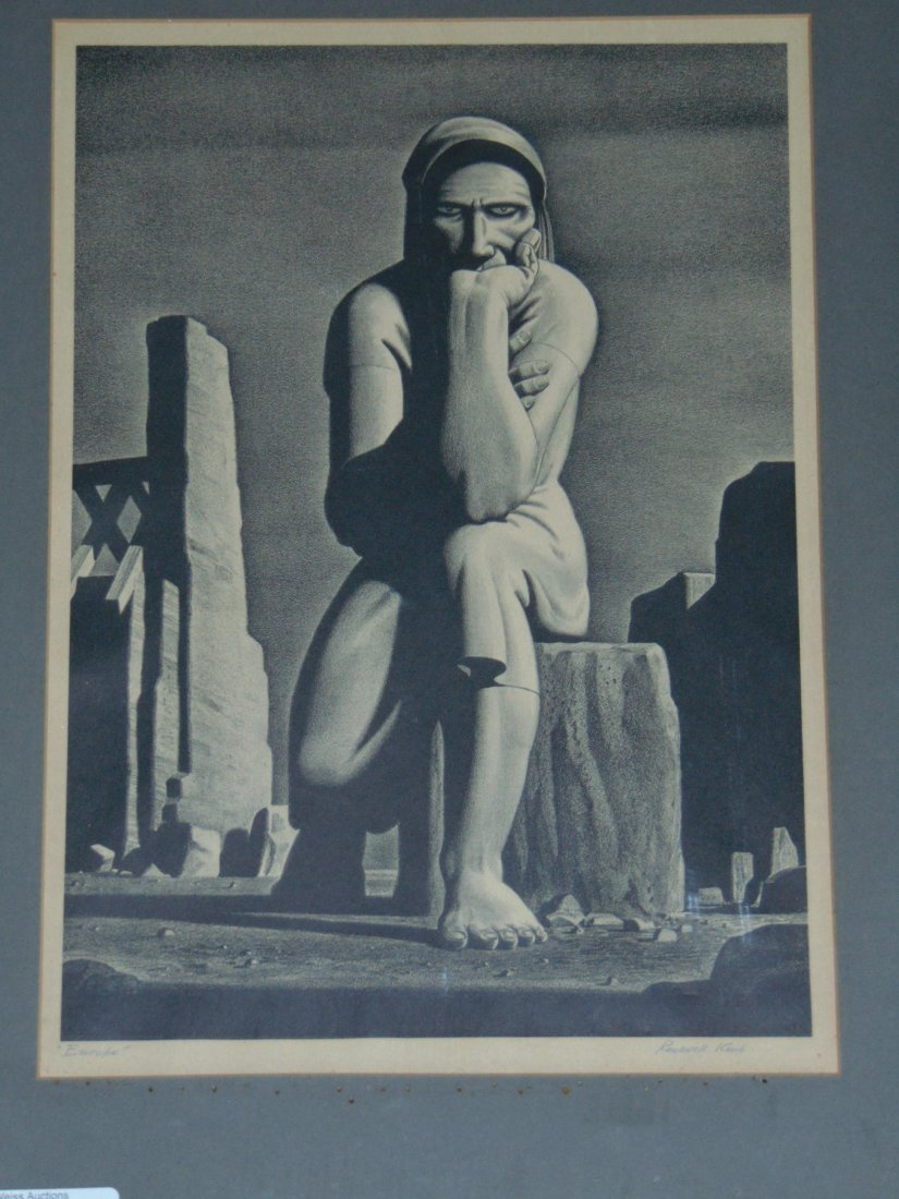 "Rockwell Kent Signed ""Europe"" Lithograph"