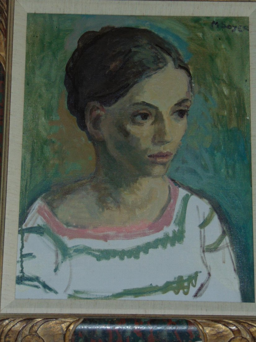 Moses Soyer, Oil on Canvas Portrait of a Woman