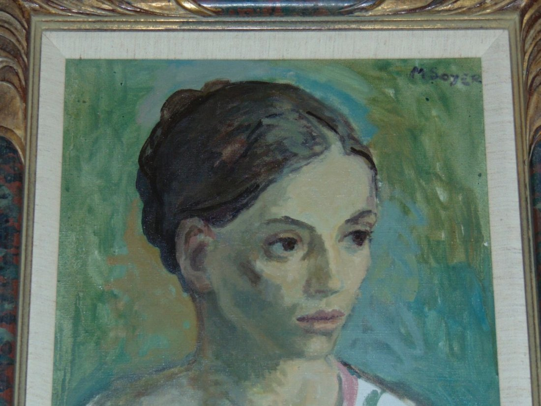 Moses Soyer, Oil on Canvas Portrait of a Woman - 2