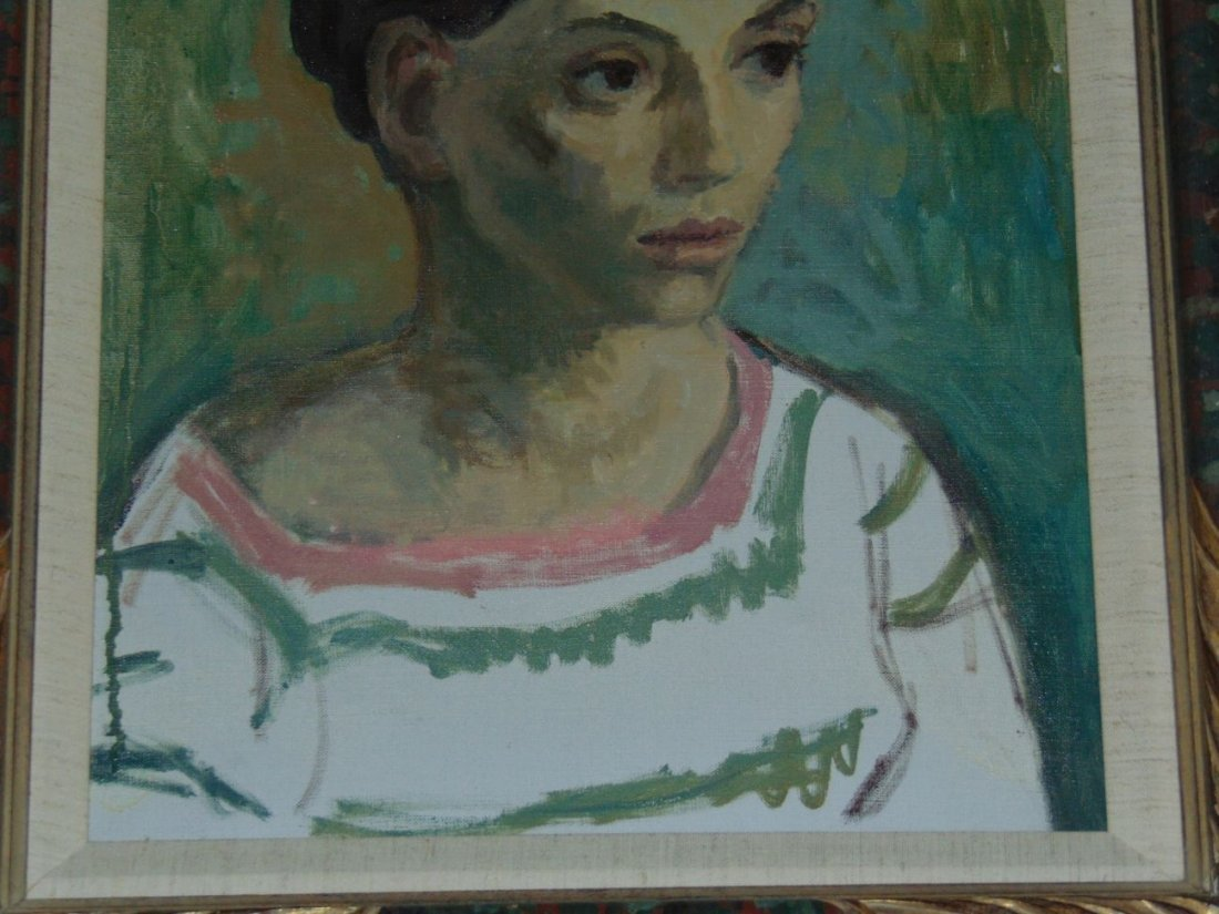 Moses Soyer, Oil on Canvas Portrait of a Woman - 3