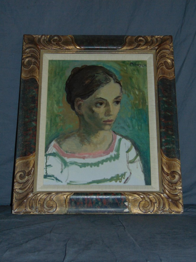 Moses Soyer, Oil on Canvas Portrait of a Woman - 5