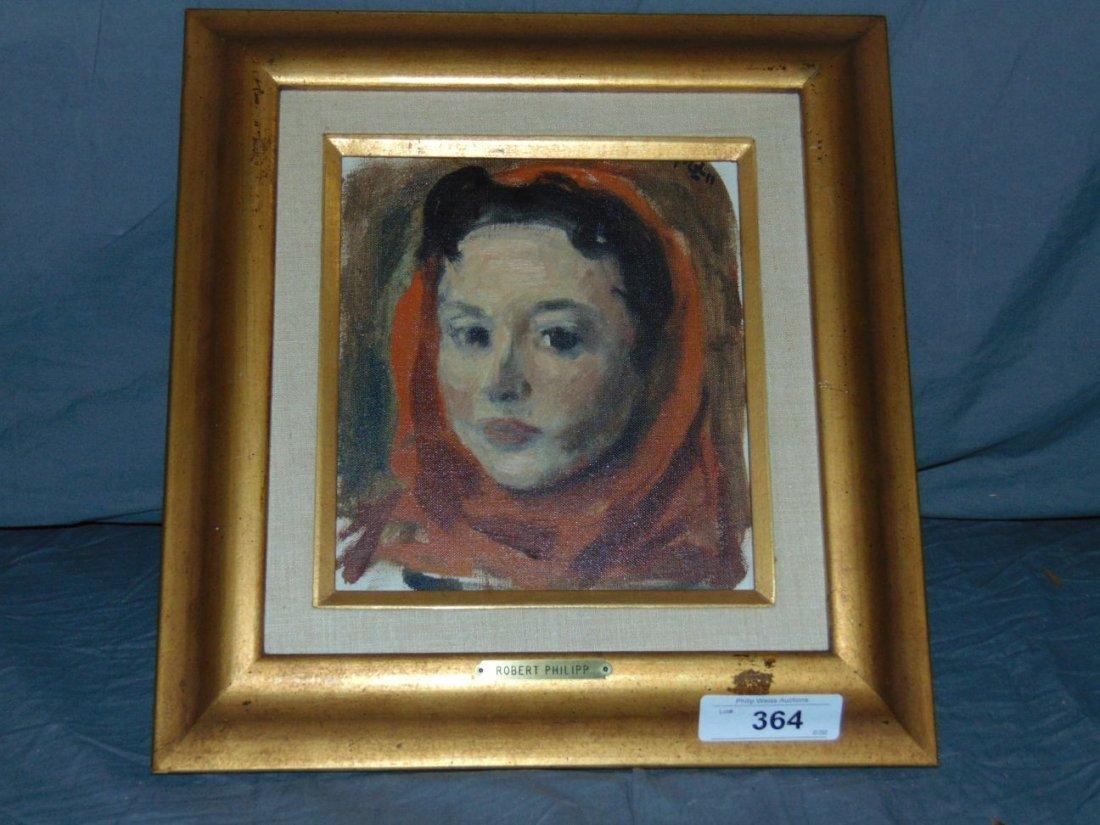 Robert Philipp, Oil on Canvas Portrait of Woman - 4