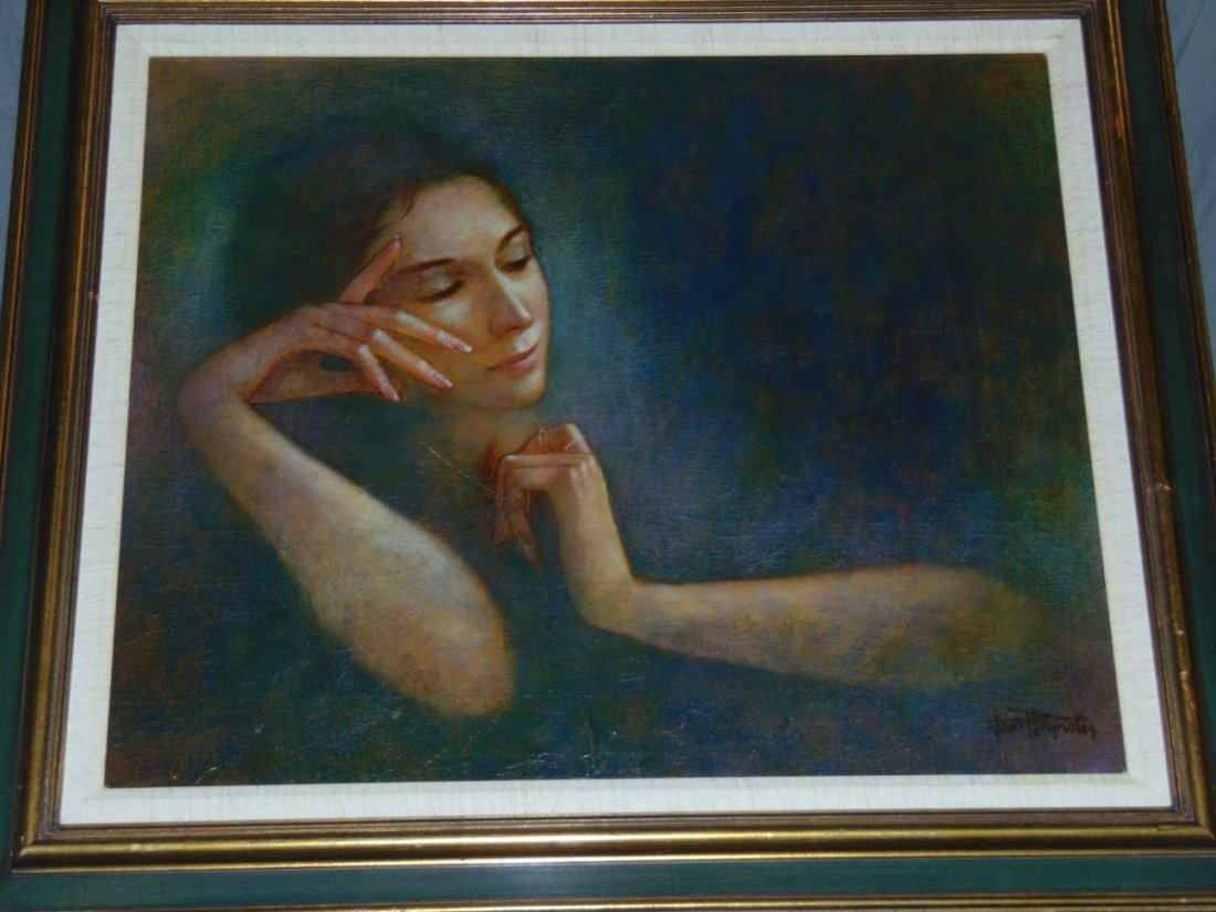Wade Reynolds, Oil on Canvas, Woman with Necklace