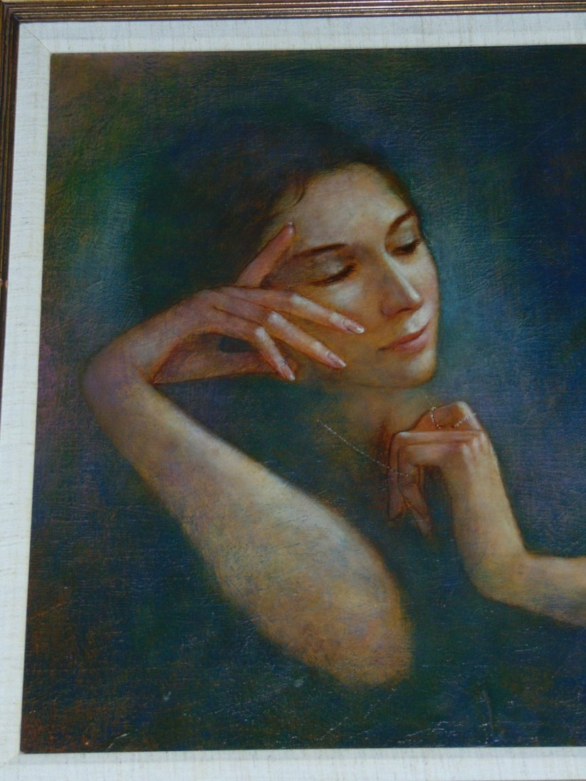 Wade Reynolds, Oil on Canvas, Woman with Necklace - 2