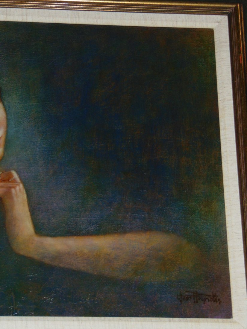 Wade Reynolds, Oil on Canvas, Woman with Necklace - 3