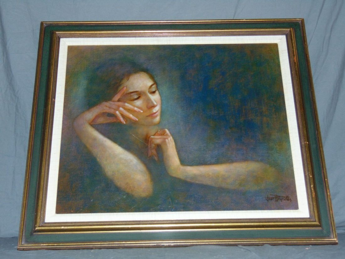 Wade Reynolds, Oil on Canvas, Woman with Necklace - 5
