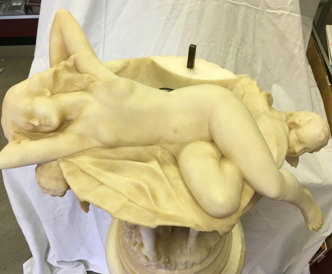 Eugenio Pattarino Alabaster Statue with Pedestal - 9