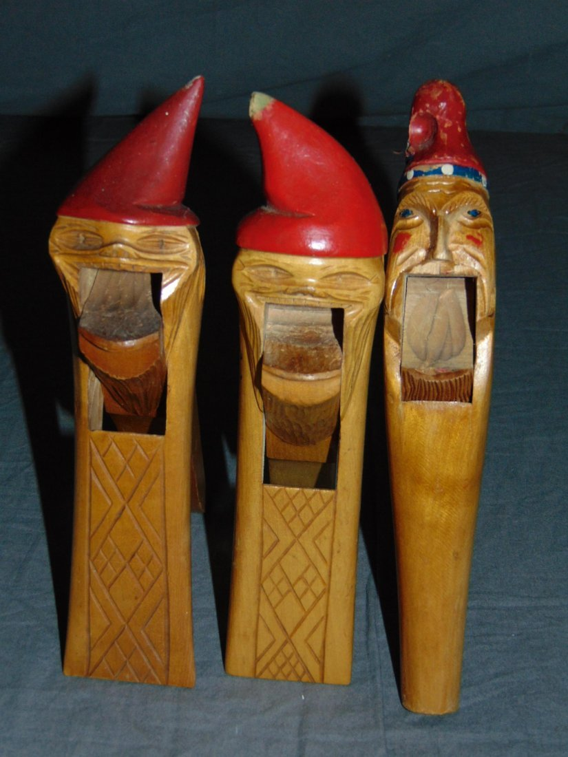 Wood Carved Nut Crackers. - 3