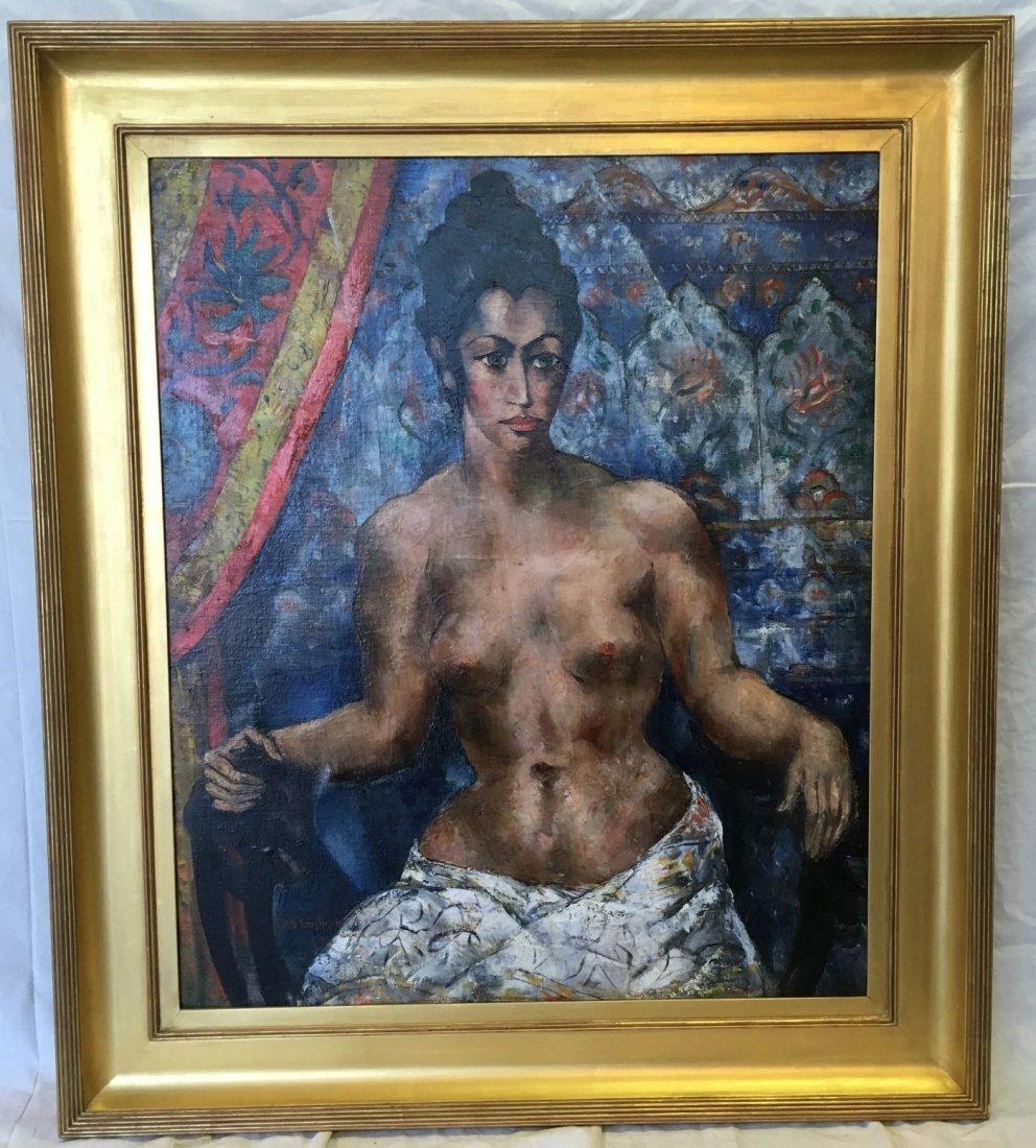 Abraham Baylinson  (1882 - 1950) Oil on Canvas.