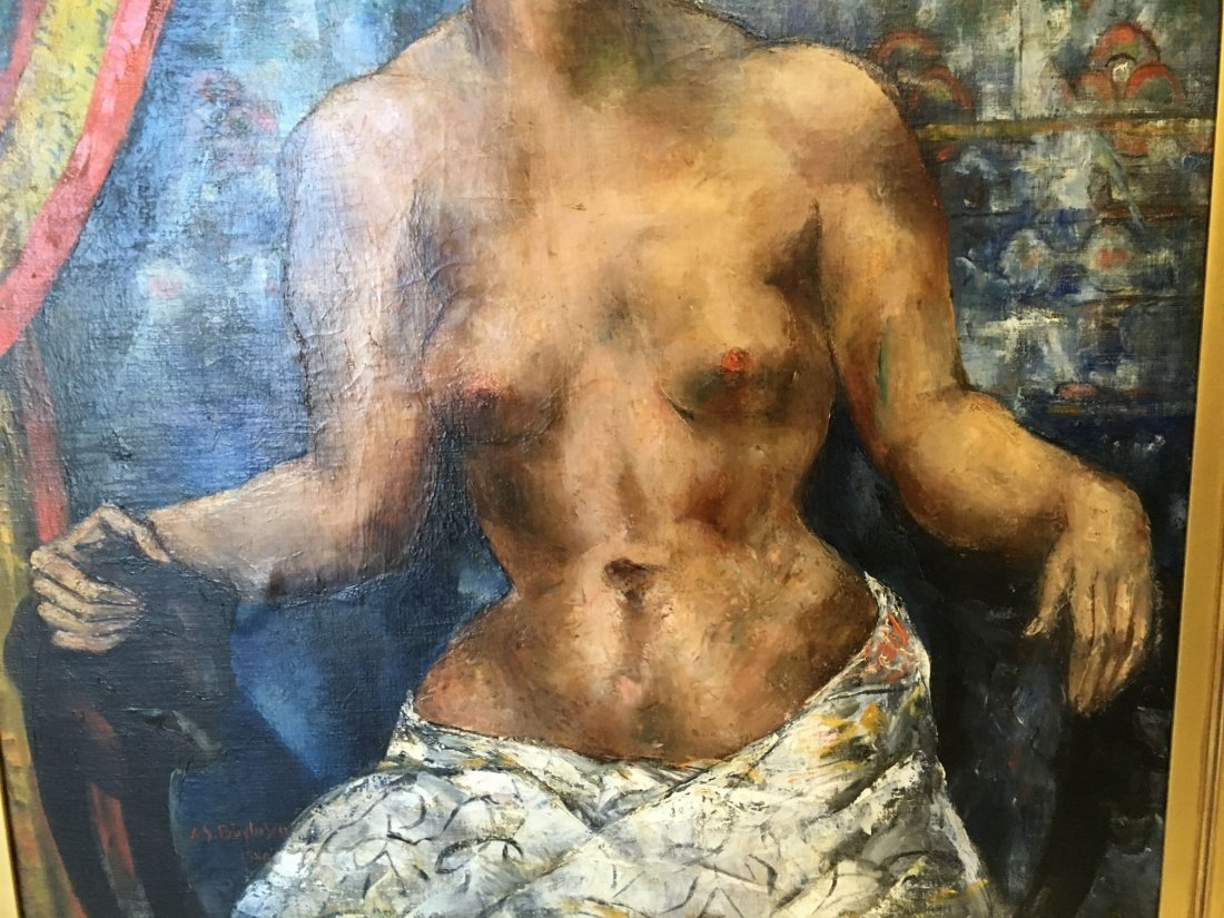 Abraham Baylinson  (1882 - 1950) Oil on Canvas. - 4