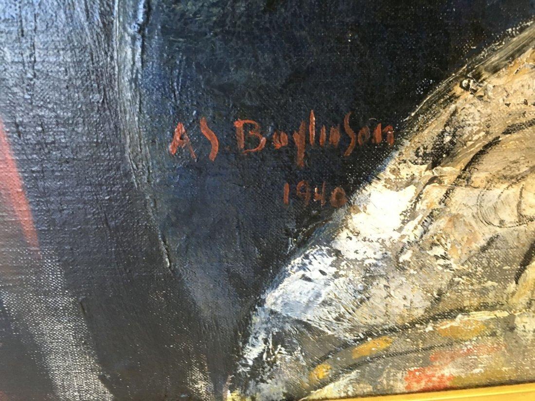 Abraham Baylinson  (1882 - 1950) Oil on Canvas. - 6