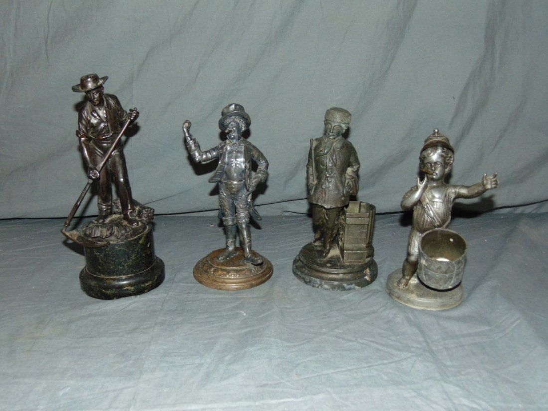 Four Piece Bronze and Metal Lot.