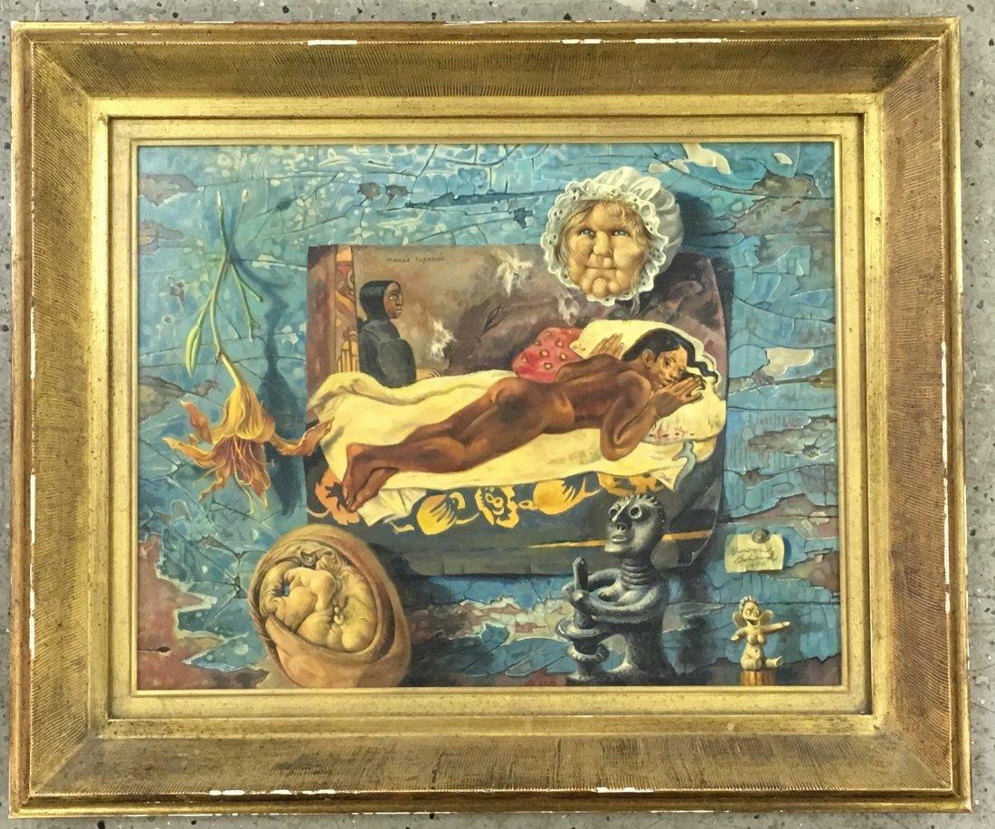 Aaron Bohrod  (1907 - 1992), Oil on Gesso Panel