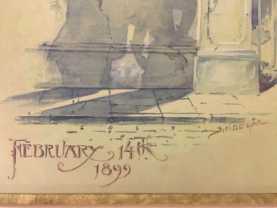 Thomas Sindelar, Orig Salmagundi Club Menu Artwork - 4