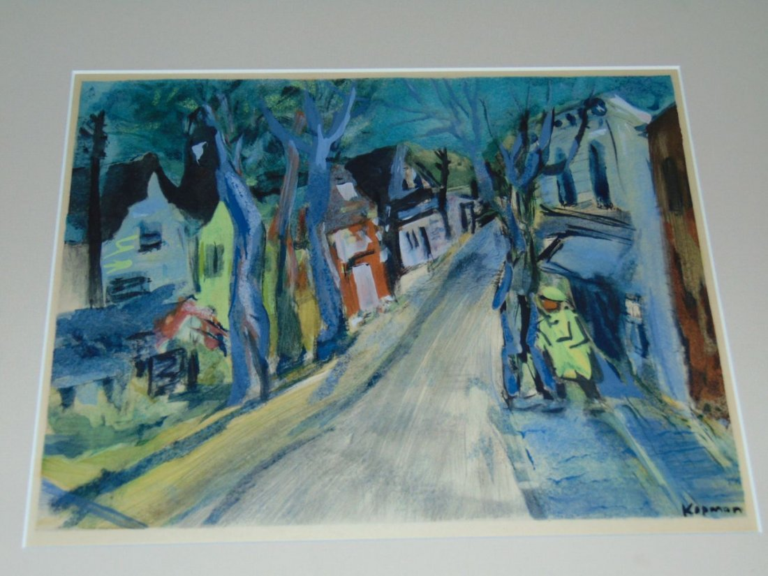 Benjamin Kopman (1887 - 1965) Ink Wash on Paper