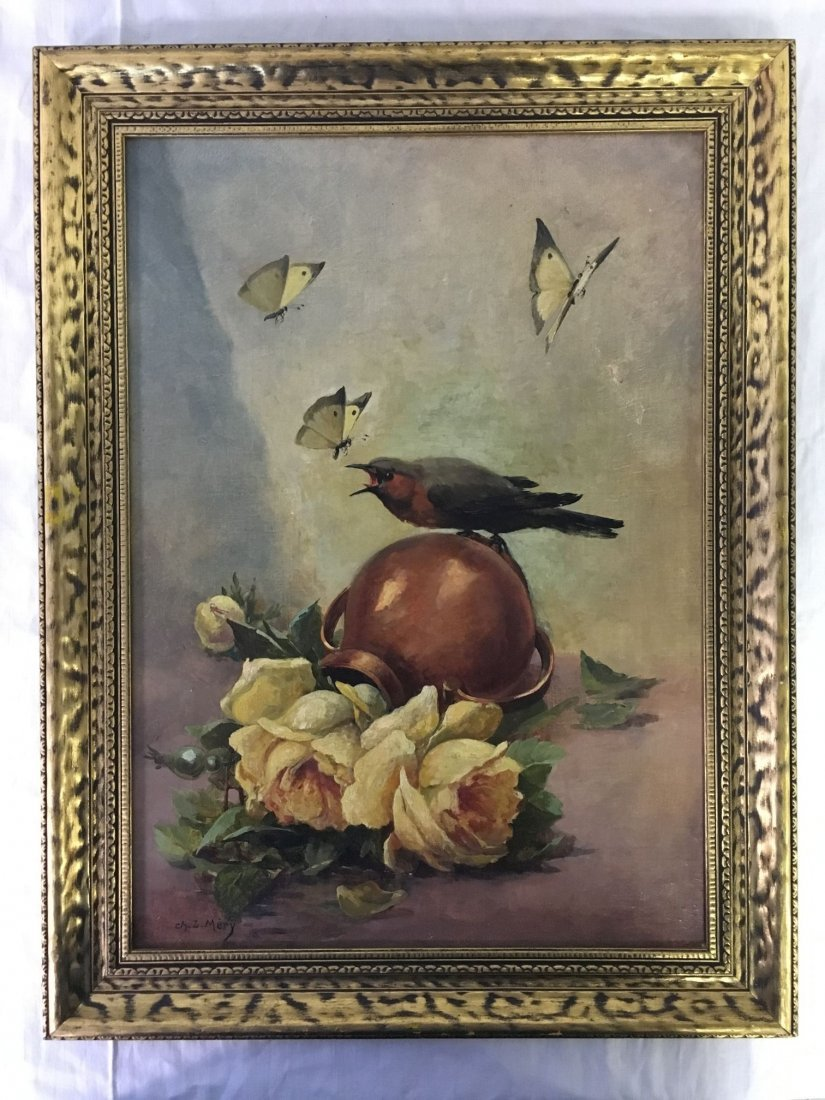 Oil on Canvas, Signed Ch. L. Mery